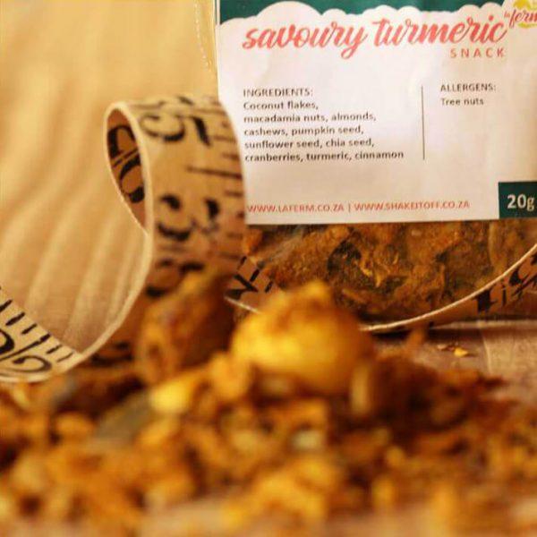 Laferm Savoury Turmeric Snack met maatband